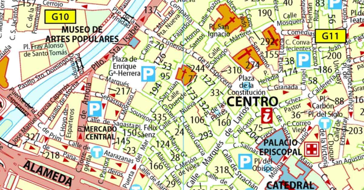 Ronda Plan De La Ville