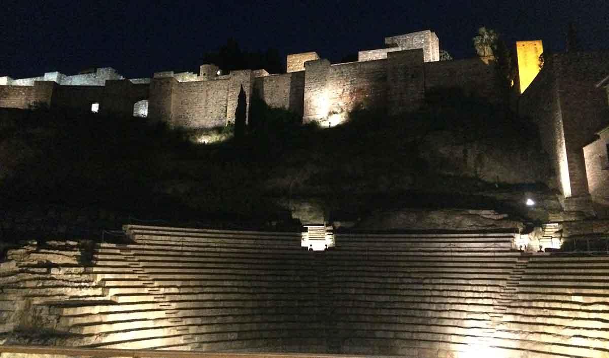 Geschichte Malaga, Teatro Romano und Alcazaba
