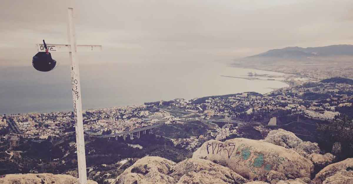 Blick vom Gipfel Monte San Anton