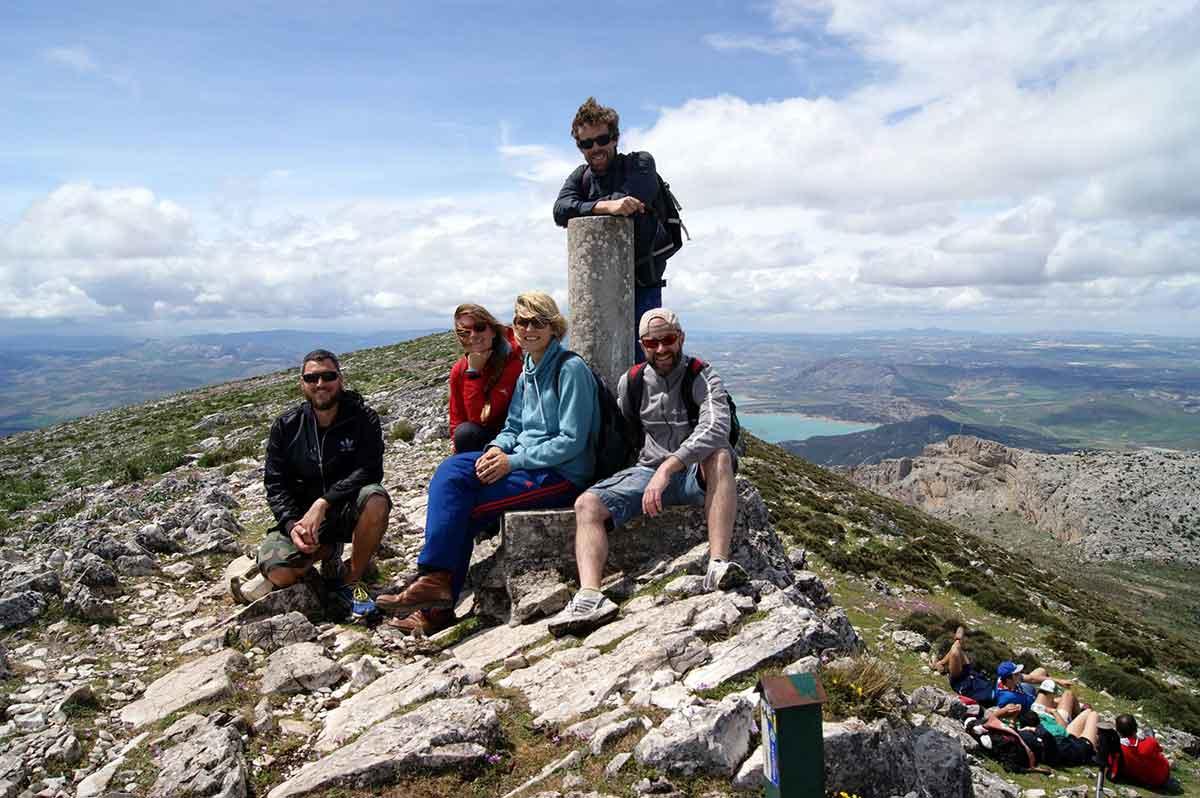 Gipfel Monte Huma Wandern El Chorro