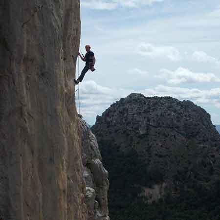 Kletterer El Chorro