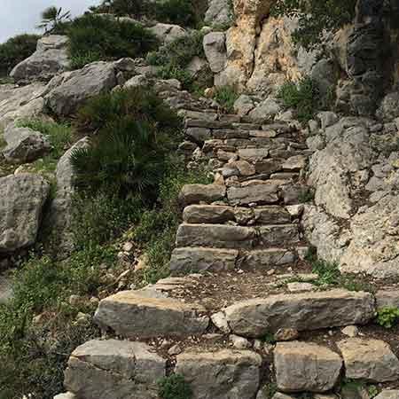 Monte Huma Treppe Stein