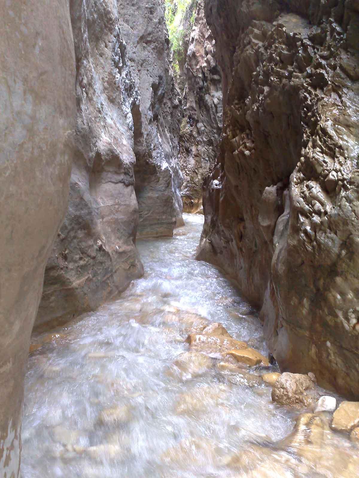 Enge Stelle im Rio Chillar Nerja