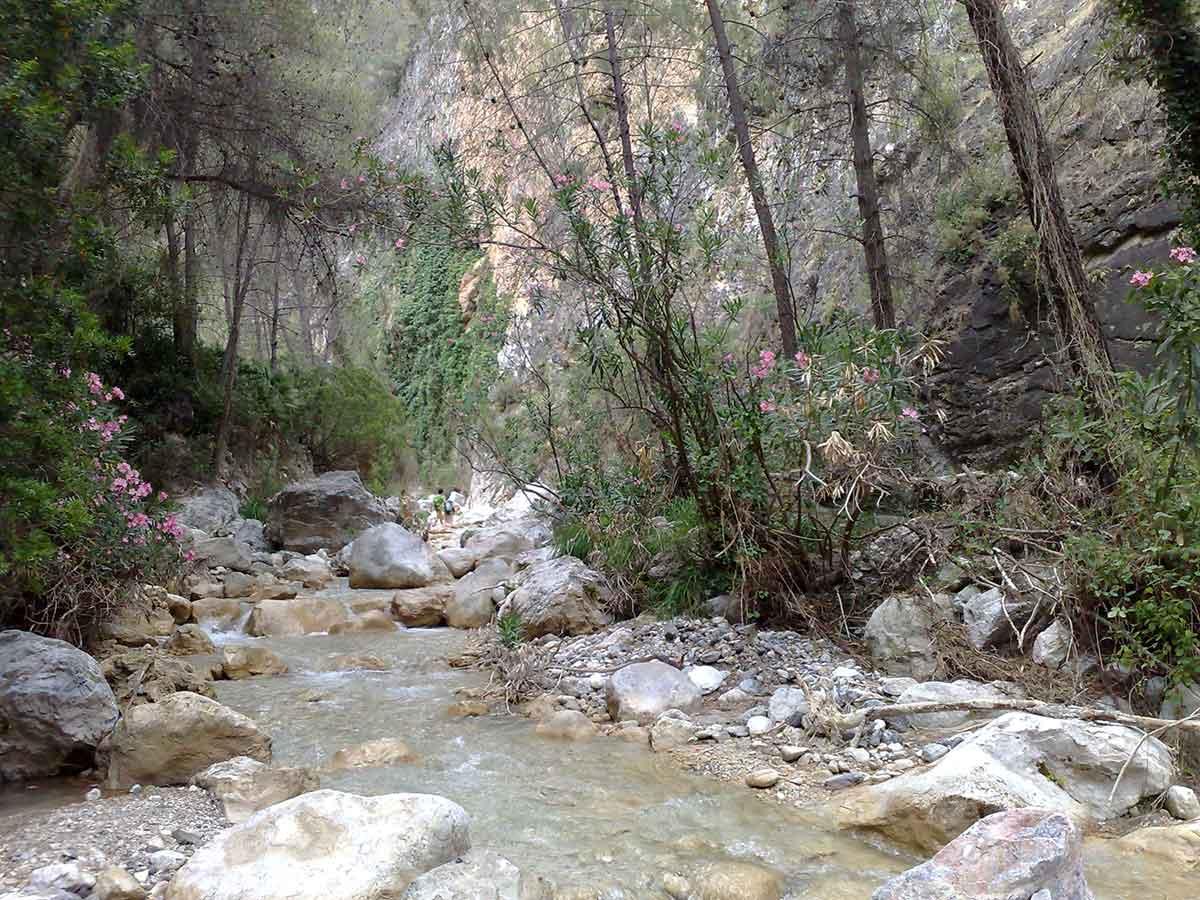 Flusswanderung im Rio Chillar