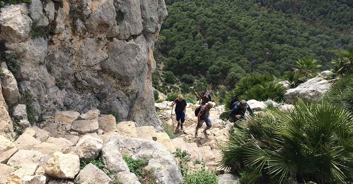 Steintreppe Monte Huma