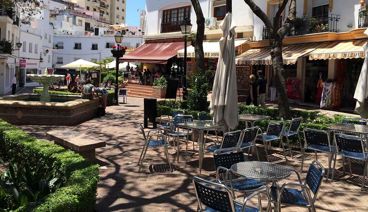 Marbella: Plaza de la Victoria in der Altstadt