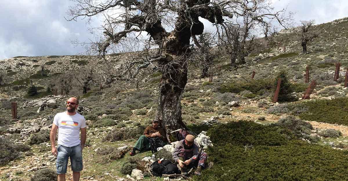Rast in der Sierra de las Nieves umgeben von Quejigos