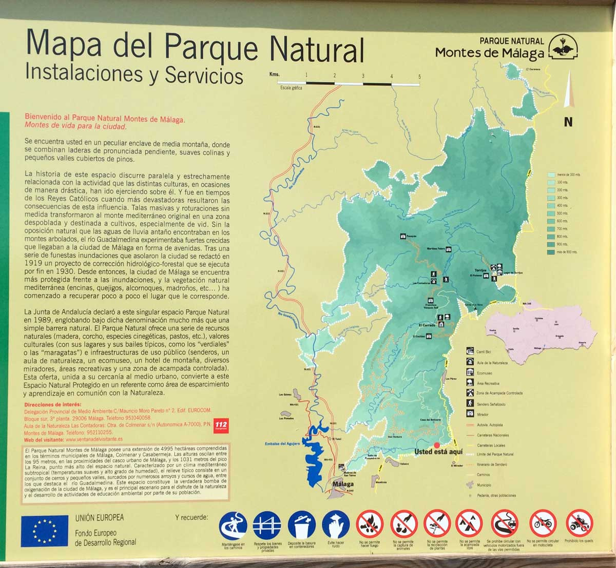 Wandern in den Montes de Malaga