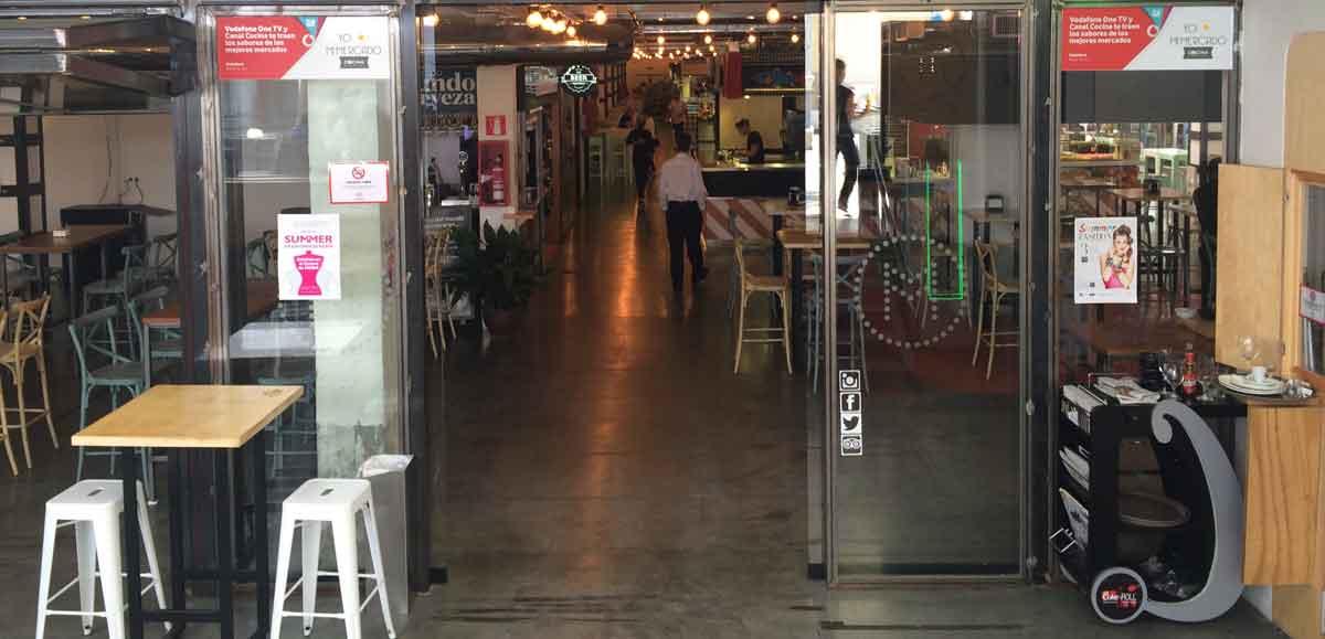 Eingang des Gastronomiemarkt in Málaga