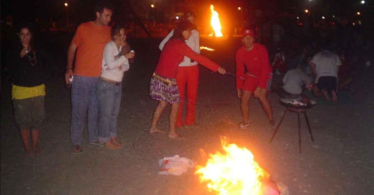 Lagerfeuer in der Noche de San Juan