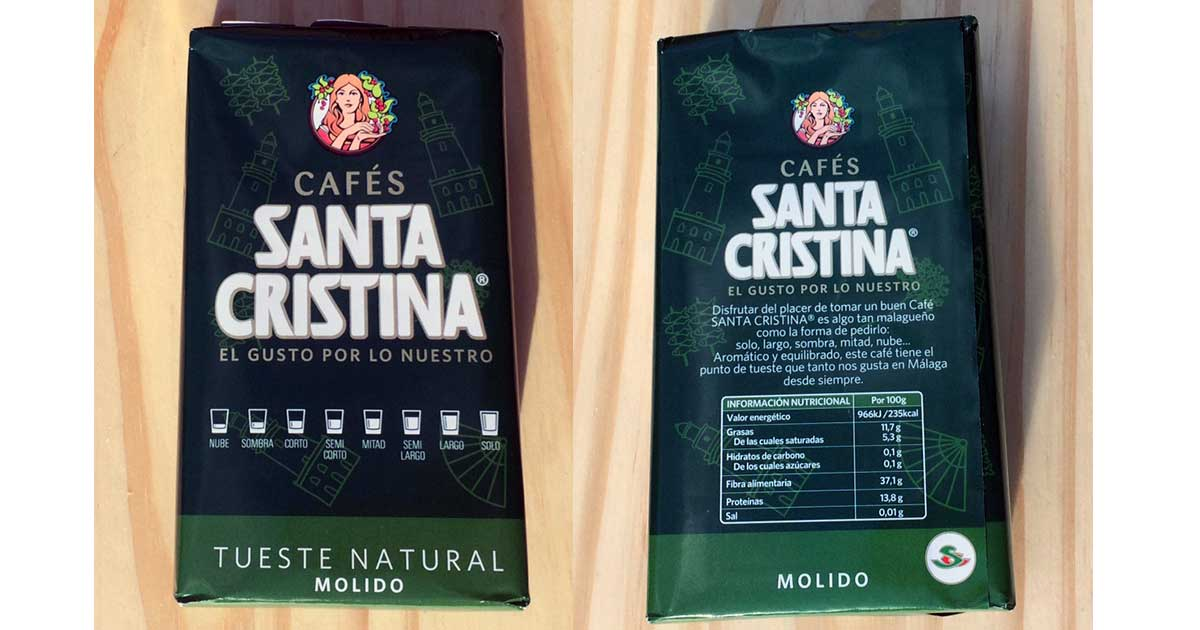 Kaffeemarke Santa Cristina aus Málaga