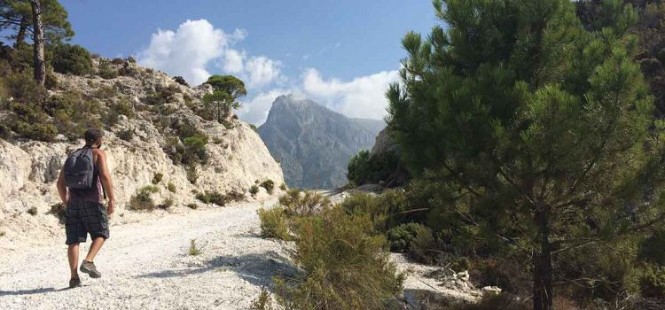 Wanderroute auf den Cerro Cisne (1486 m) / den K2 der Sierra Almijara