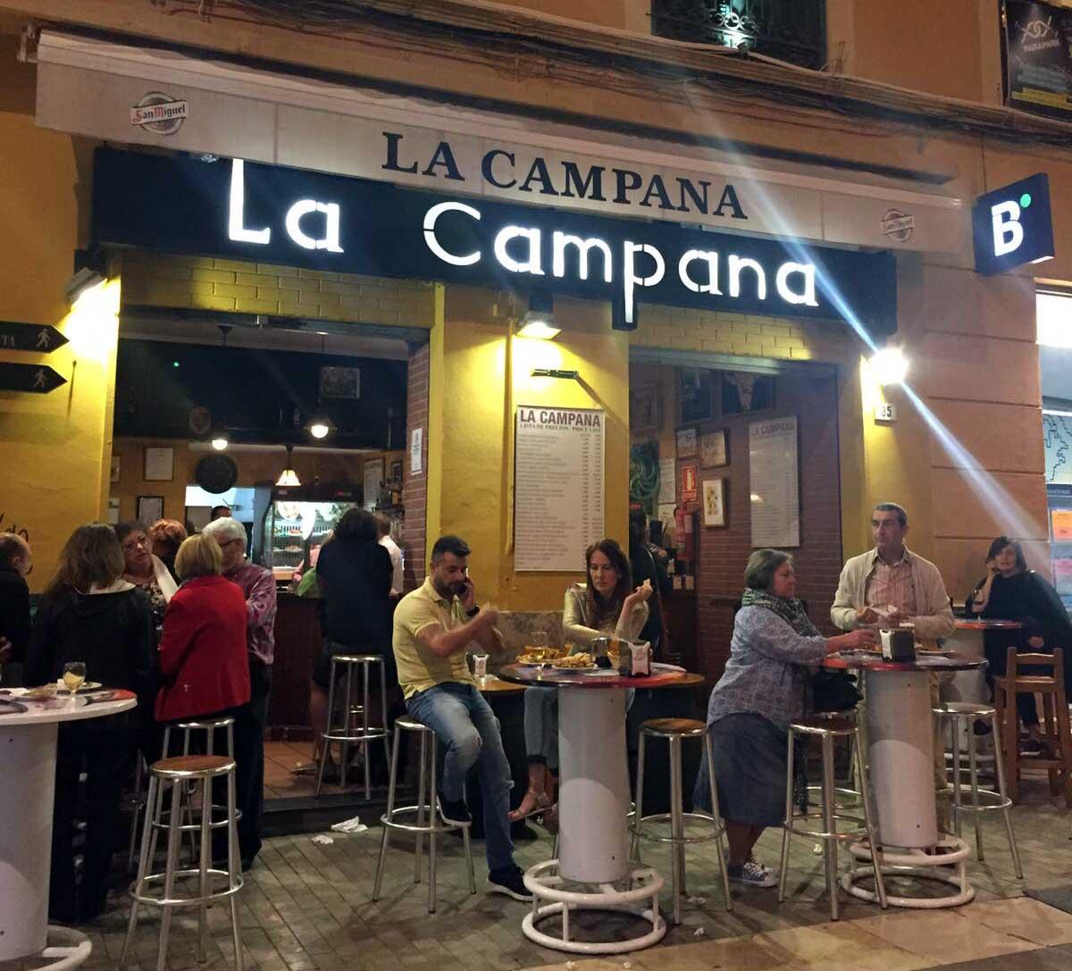 Restaurant in Malaga: La Campana