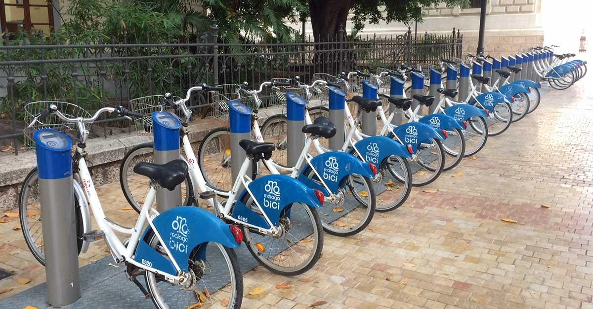 Gratis Fahrrad mieten und fahren Malaga