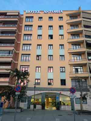 Hotel Astoria in Bahnhofsnähe Malaga