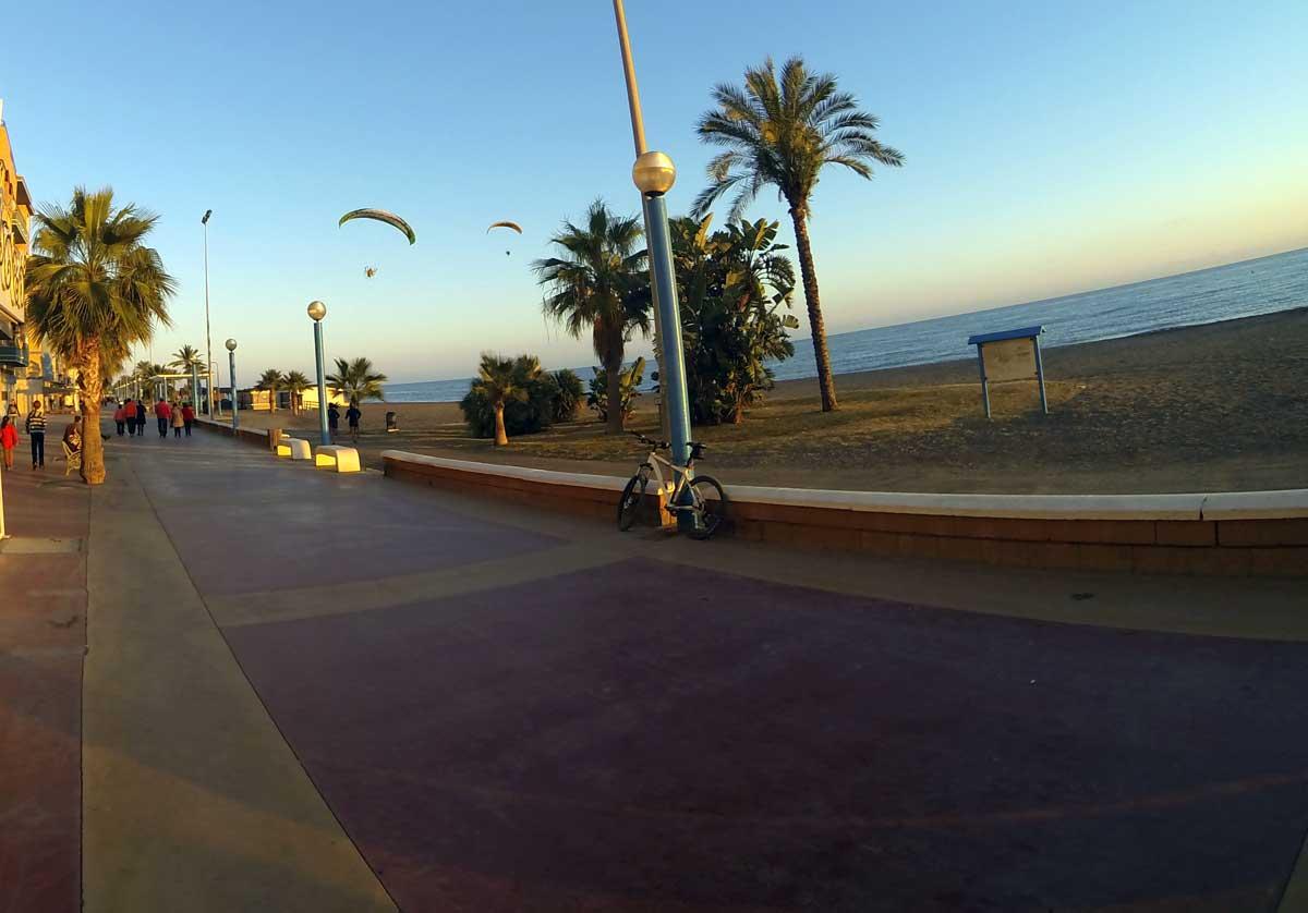 Rincon de la Victoria Strandpromenade