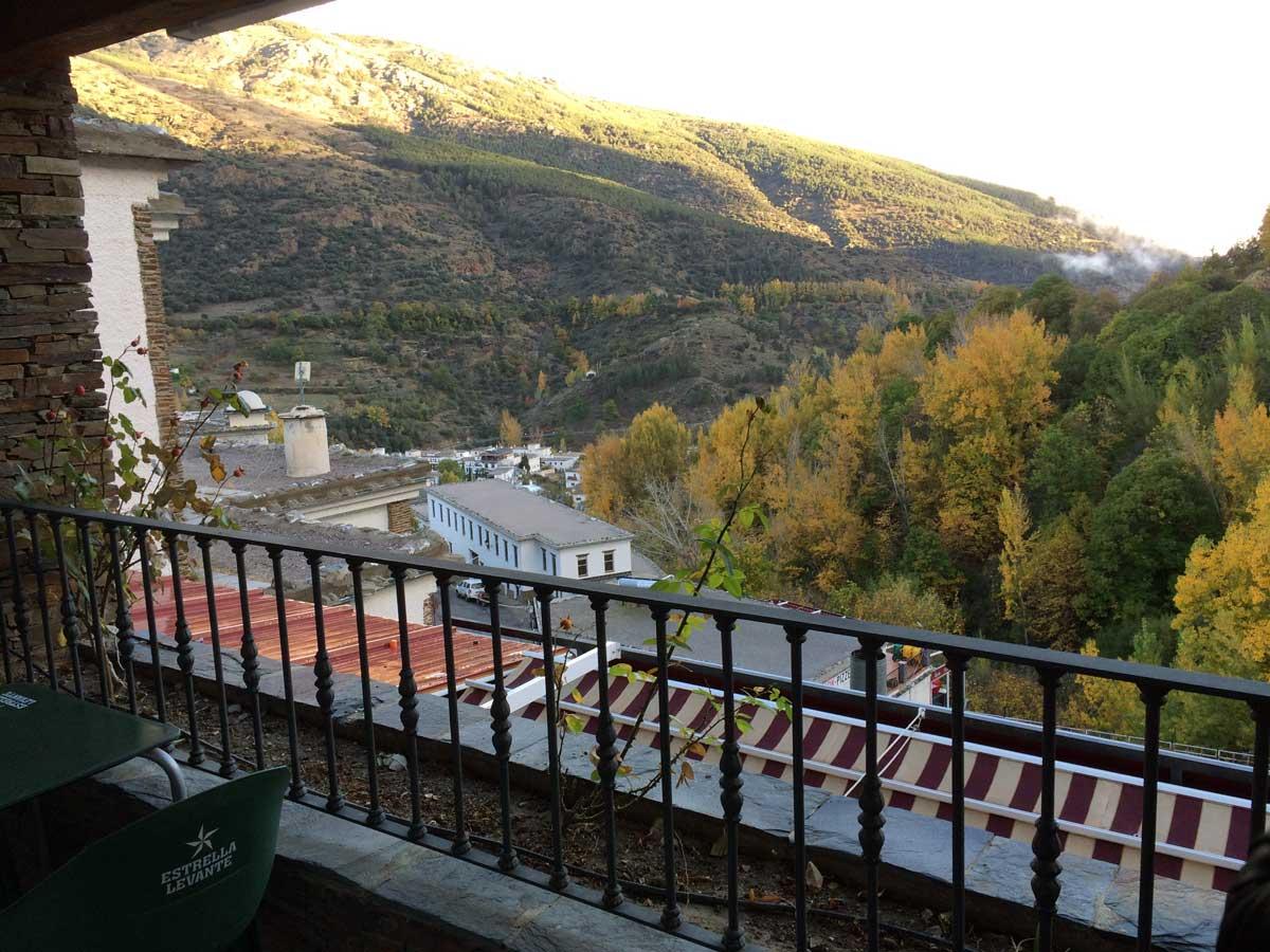 Terrasse Hotel Siete Lagunas in Trevelez, Alpujarras