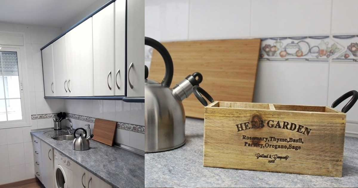 Apartment Küche voll ausgestattet